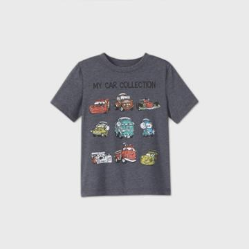 Disney Toddler Boys' Cars My Car Collection Short Sleeve Graphic T-shirt - Black
