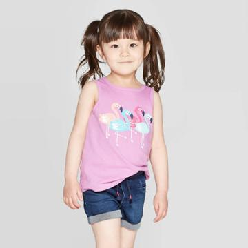 Toddler Girls' 'bird' Graphic Tank Top - Cat & Jack Purple