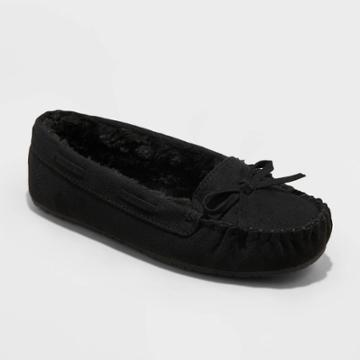 Girls' Cadi Moccasin Slippers - Cat & Jack Black