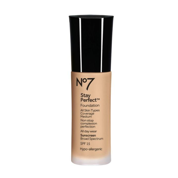 No7 Stay Perfect Foundation Warm Sand Spf 15 - 1 Fl Oz, Warm Brown