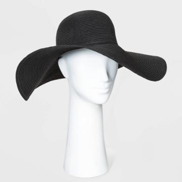 Women's Floppy Hats - A New Day Black One Size, Women's