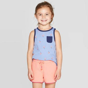 Toddler Girls' Basic Tank Top - Cat & Jack Blue