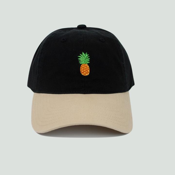Concept One Men's Pineapple Dad Hat - Black