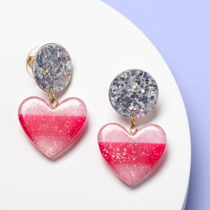 More Than Magic Girls' Glitter Heart Earrings - More Than