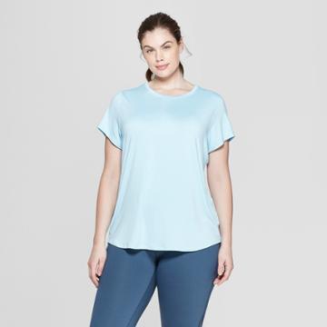 Women's Plus Size Short Sleeve Soft T-shirt - C9 Champion Ice Blue