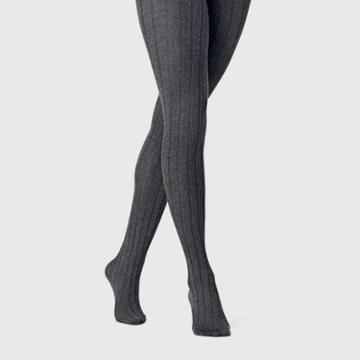 Women's Wide Ribbed Sweater Tights - A New Day M/l, Size: Medium/large, Gray