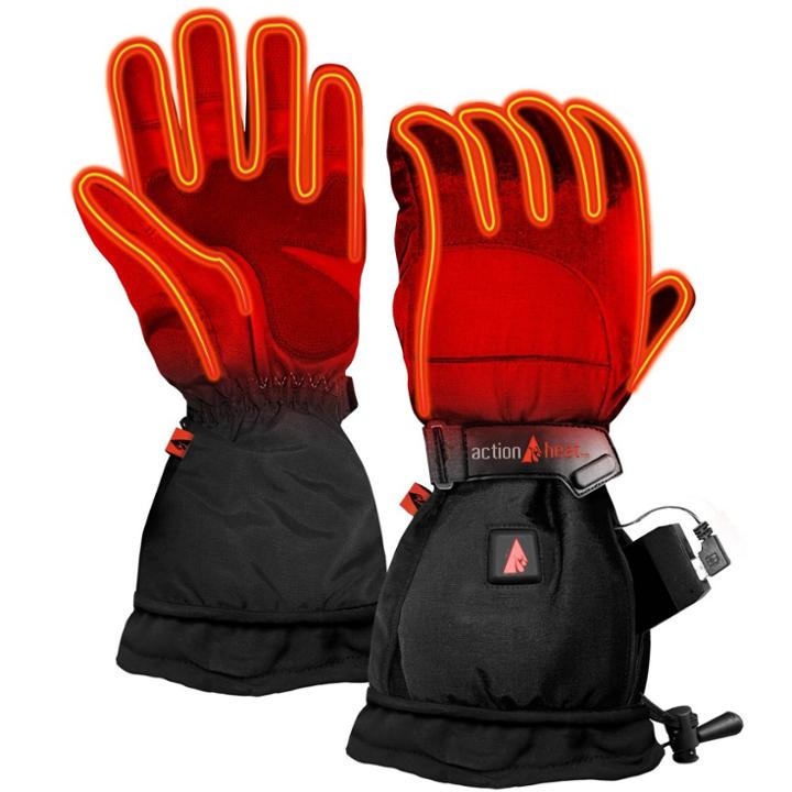 Actionheat 5v Battery Heated Men's Snow Glove - Black S, Adult Unisex,