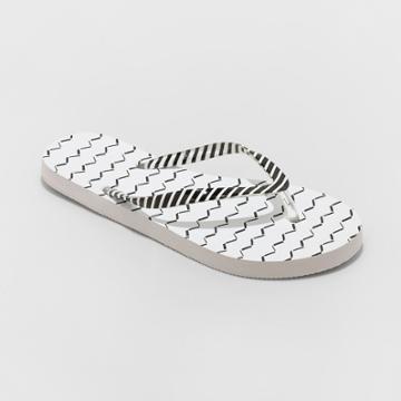 Women's Sara Flip Flops - Shade & Shore White
