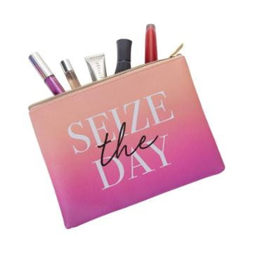Ruby+cash Seize The Day Makeup Pouch - Ombre Pink