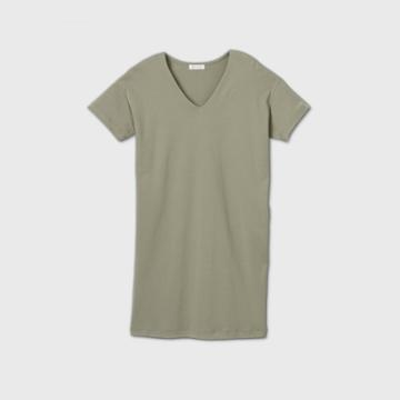 Women's Short Sleeve T-shirt Dress - Prologue Gray Xs, Women's, Green
