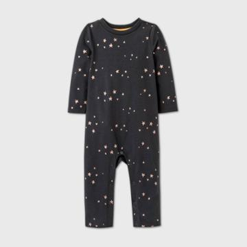 Baby Girls' Star Tutu Bum Romper - Cat & Jack Charcoal Gray 0-3m, Grey/gray