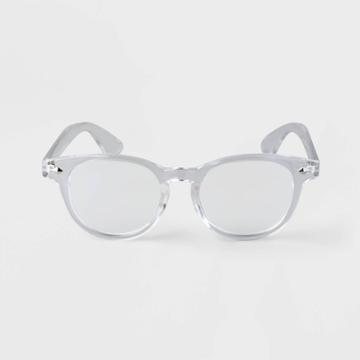 Men's Round Blue Light Filtering Reading Glasses - Goodfellow & Co Clear