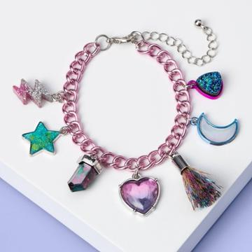 More Than Magic Girls' Moon And Eye Charm Bracelet With Tassel - More Than