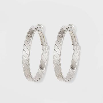 Herringbone Hoop Earrings - Universal Thread