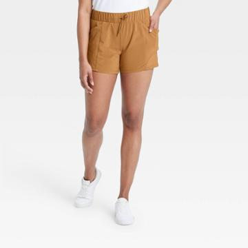 Women's Stretch Woven Shorts - All In Motion Toffee