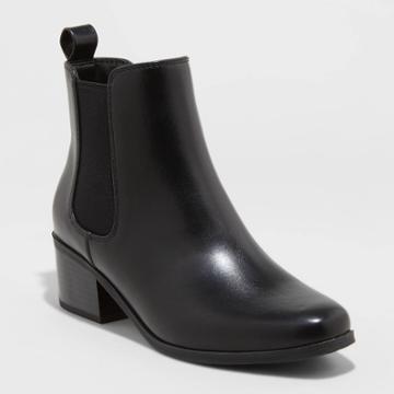 Women's Ellie Wide Width Chelsea Boots - A New Day Black