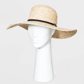 Women's Straw Boater Hats - Universal Thread Natural One Size, Women's, Yellow