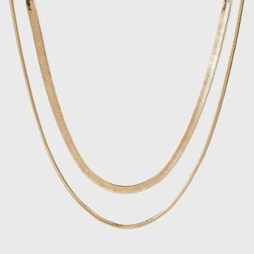 Snake Chain Necklace Set 2pc - A New Day Gold