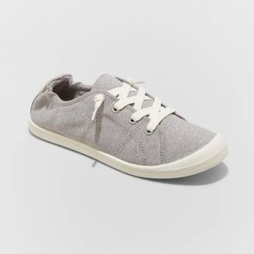 Women's Mad Love Lennie Lace Up Canvas Sneakers - Gray