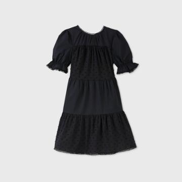 Women's Balloon Short Sleeve Dress - Who What Wear Black