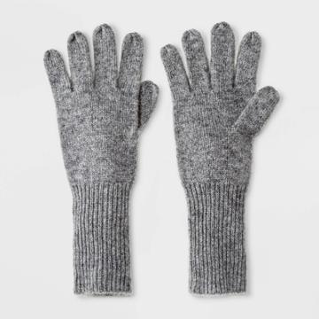 Women's Cashmere Mittens - A New Day Gray One Size, Women's, Grey Grey