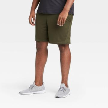 Men's Mesh Shorts - All In Motion Olive Green Xl, Green Green