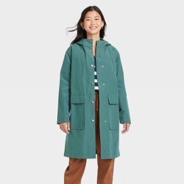 Women's Rain Coat - A New Day Green