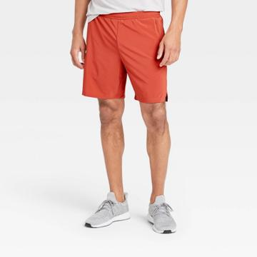 Men's 7 Lined Run Shorts - All In Motion Deep Red