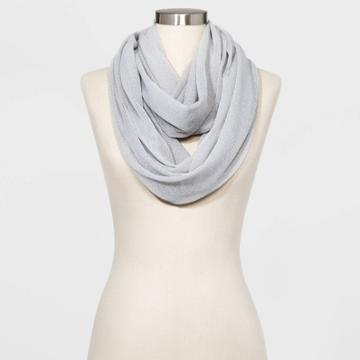 Women's Infinity Scarf - A New Day Gray One Size, Women's