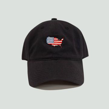 Concept One Men's Americana Map Dad Baseball Hat - Navy (blue)
