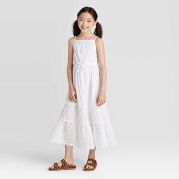 Girls' Eyelet Maxi Dress - Cat & Jack White