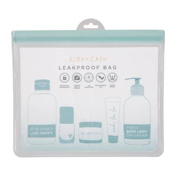 Ruby+cash Clear Blue Leakproof Pouch - Tsa Approved
