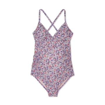 Maternity Floral Print Flounce Neck One Piece Swimsuit - Isabel Maternity By Ingrid & Isabel