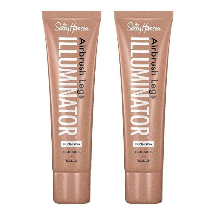 Sally Hansen Airbrush Legs Illuminator Leg Makeup - 01 Nude Glow - 2pc/3.38 Fl Oz Ea