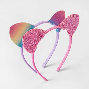 Toddler Girls' 2pk Cat Ear Headband Set - Cat & Jack