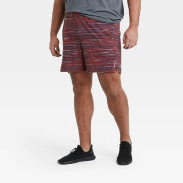Men's 7 Spacedye Print Unlined Run Shorts - All In Motion Berry