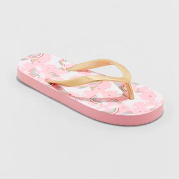 Girls' Mari Unicorn Flip Flop Sandals - Cat & Jack Pink