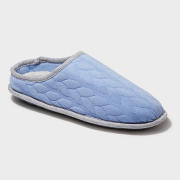 Women's Dearfoams Cable Quilted Clog Slide Slippers - Iceberg Gray Xxl (13-14), Size: