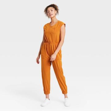 Women's Short Sleeve Jumpsuit - All In Motion Copper
