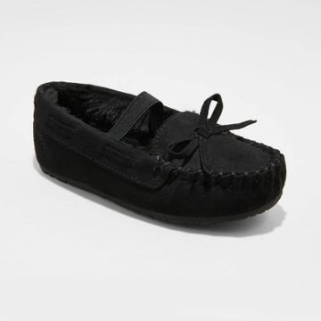 Toddler Girls' Celina Moccasin Slippers - Cat & Jack Black