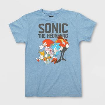 Girls' Sonic The Hedgehog Short Sleeve Graphic T-shirt - Blue