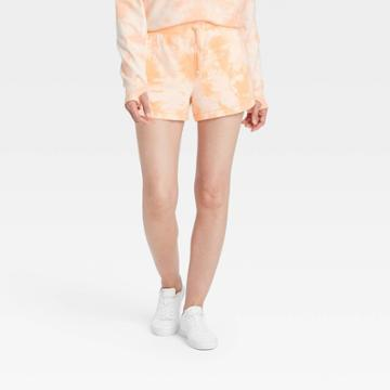 Women's Mid-rise French Terry Shorts 3.5 - All In Motion Pale Peach