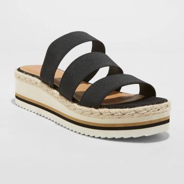 Women's Florence Sporty Platform Sandals - Universal Thread Black