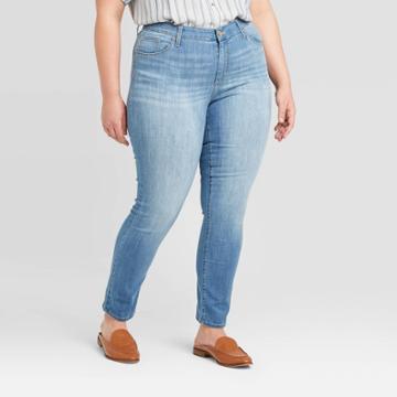 Women's Plus Size High-rise Skinny Jeans - Universal Thread Light Wash 14w, Women's, Blue