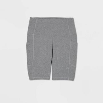 Women's Sculpted High-rise Bike Shorts 7 - All In Motion Charcoal Heather Xl, Women's, Grey Grey