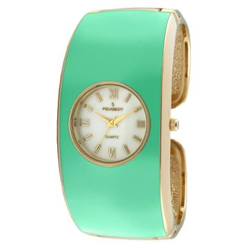 Peugeot Watches Women's Peugeotenamel Cuff Watch - Turquoise