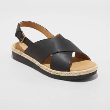Women's Frances Sporty Platform Sandals - Universal Thread Black