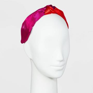 Satin Two-tone Top Knot Headband - A New Day Red