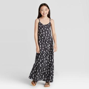 Girls' Maxi Dress - Cat & Jack Charcoal M Plus, Girl's, Size: Medium