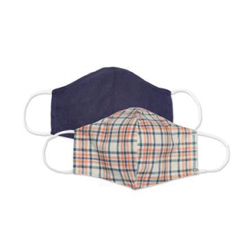 2pk Men's Fabric Face Masks - Goodfellow & Co Dusty Blue/red